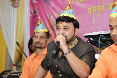 Talented musicans perform devotional songs to please the Lord