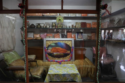 The room containing all of the divine personal artefacts of Jeevanpran Shree Muktajeevan Swamibapa