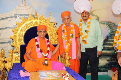 His Divine Holiness Acharya Swamishree blesses Sants and disciples