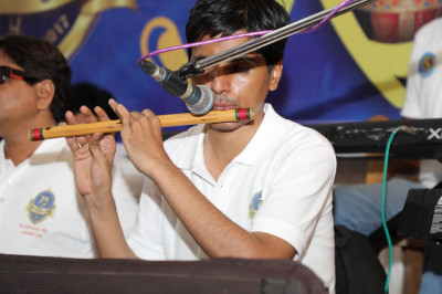 The group's flutist provides delightful sounds throughout the evening