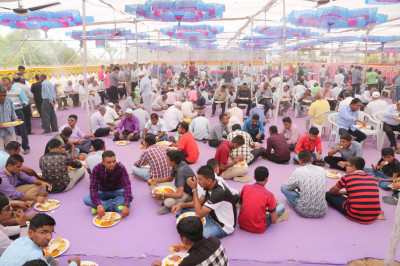 Disciples dine on prasad lunch
