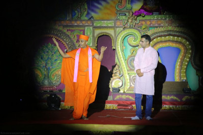 Sants play a role in the devotional drama production