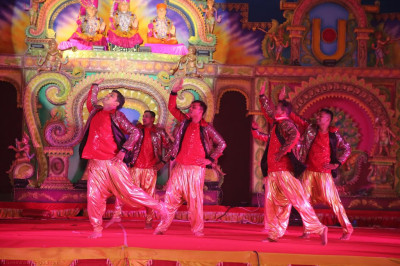 Disciples perform a dance to a devotional song to please the Lord