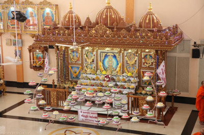 Divine darshan of the Lord inside Shree Swaminarayan Mandir Naranpar