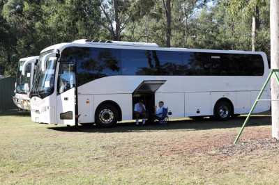 Coach drivers dine on prasad lunch