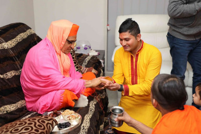 His Divine Holiness Acharya Swamishree initates new disciples
