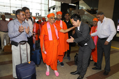 His Divine Holiness Acharya Swamishree blesses the tour operator
