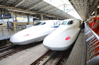 The famous Japanese bullet train running the 400km between Tokyo and Osaka
