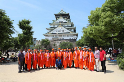 Sants and disciples at Osaka castle