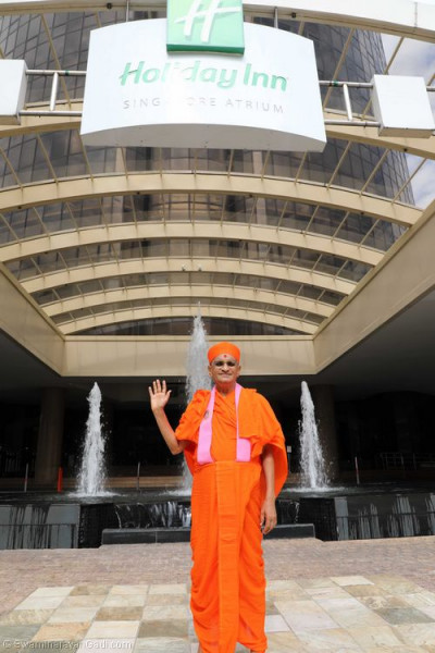 His Divine Holiness Acharya Swamishree blesses all