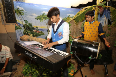 Young disciples play various traditional and modern instruments to please the Lord
