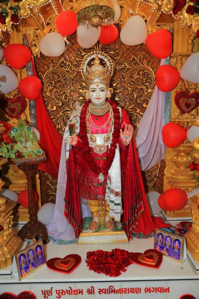 Divine darshan of Lord Shree Swaminarayan on Valentine's day