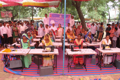The donated sewing machines