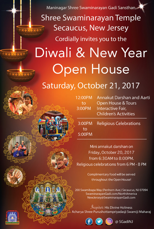 Diwali, New Year Celebrations & Open House
