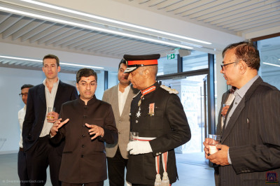 Trustees of the mandir welcome Lord Lieutenant Sir Kenneth Olisa OBE, Her Majesty's representative