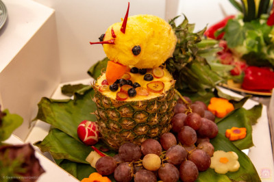 One of the many fabulous fruit creations presented to the Lord