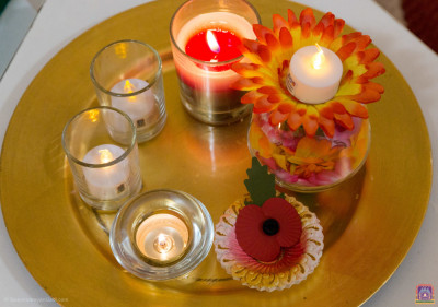 Diwali celebration candles