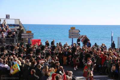 Thousands gather to celebrate in the picturesque French Riviera town