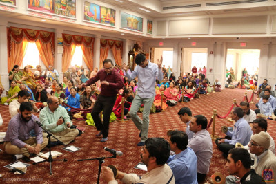 Disciples celebrate Lord Shree Swaminarayan's 237th manifestation day with joyous dancing