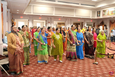 Disciples participate in a 24 hour dhoon to celebrate Lord Shree Swaminarayan's 237th manifestation day