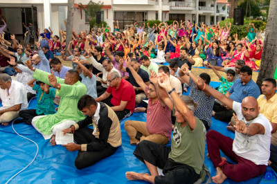Devotees gather for evening congregation