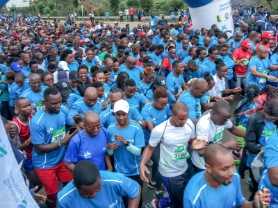 Various take part for the charitable Standard Chartered Marathon