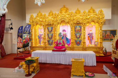 The view of the front of the mandir