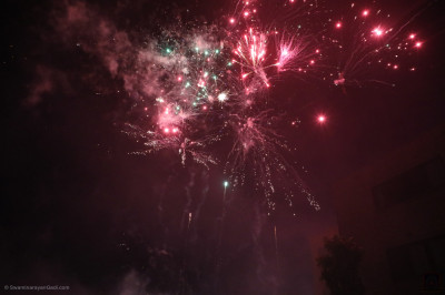 The grand fireworks display