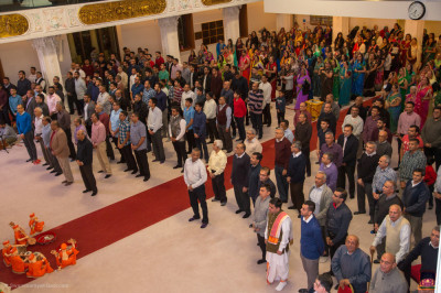 All stand to perform the Indian National Anthem