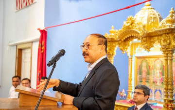 Ambassador of India to the United States, H.E. Harsh Shringla, Visits Shree Swaminarayan Temple - Louisville, Kentucky