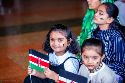 Devotees present for the Jamhuri day celebrations