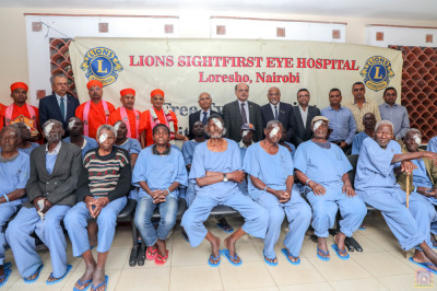 H.D.H Acharya Swamishree's visit at Lions Sightfirst Eye Hospital