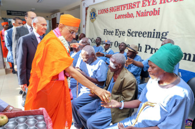 H.D.H Acharya Swamishree's blesses one of the patients