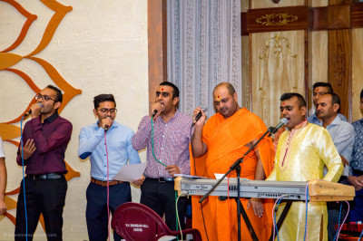 Sant and devotees sing melodiously