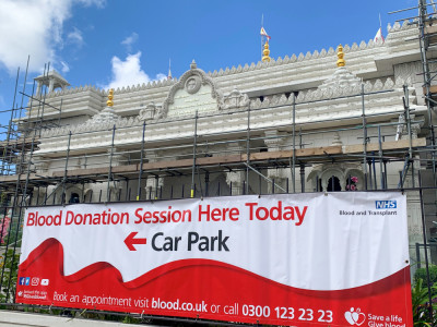 Shree Swaminarayan Mandir Kingsbury hosts the NHS blood donation sessionrn