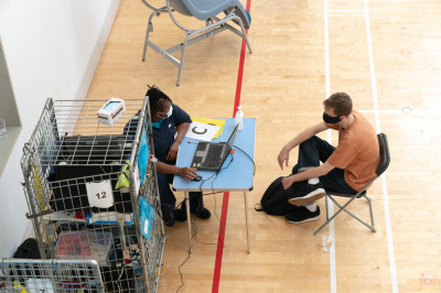 Disciples and members of the local community register to donate blood