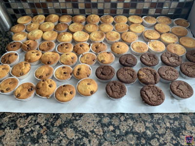 Disciples cook cup cakes to be distributed to London hospitals and care homes