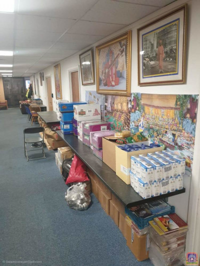 Numerous items are gathered from the donations