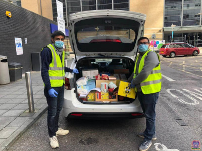 Items donated to front line NHS staff