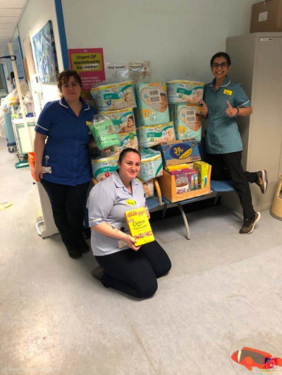 Items are donated to front line NHS staff in various hospitals around London