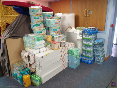 Donations are collected and sorted ready for donating to NHS heroes and local food banks