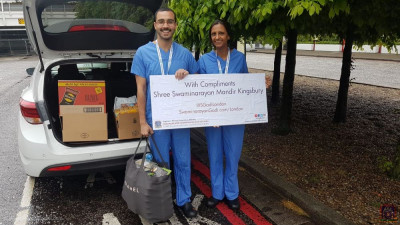 Food items donated to NHS staff