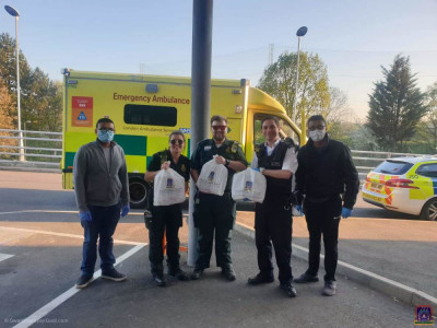 Essential and food items donated to front line NHS staff