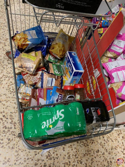 Donations are collected for donating to NHS heroes and local food banks