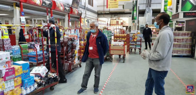 Disciples purchase wholesale essential items to donate