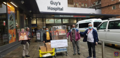Disciples transport the food items to London hospitals