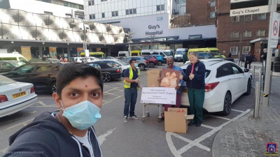 Disciples transport and distribute essential food items to NHS staff at London hospitals