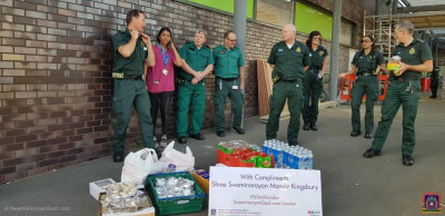 Items distributed to front line NHS staff in London hospitals