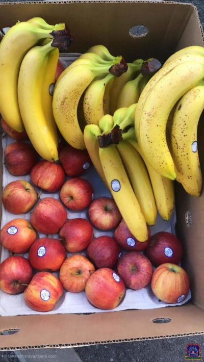 Disciples distribute fresh fruit to NHS front line staff at London's hospitals