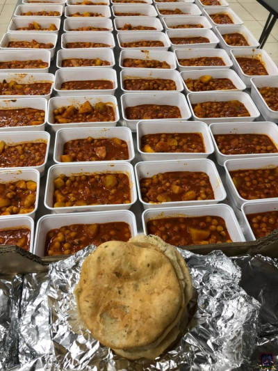 Disciples prepare fresh meals to donate to NHS staff at London's hospitals